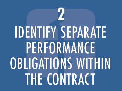 Identify separate performance obligations within the contract