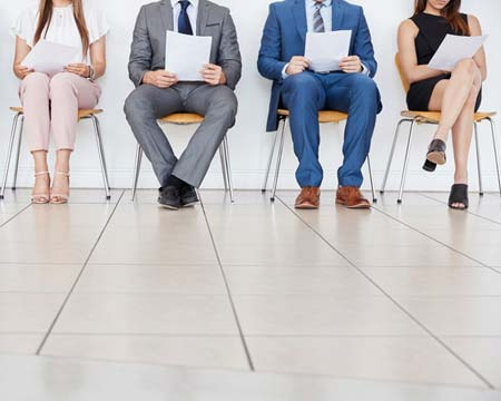 candidates waiting for job interviews