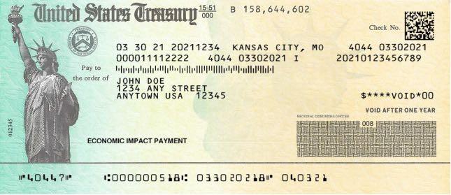 Sample US Treasury Check