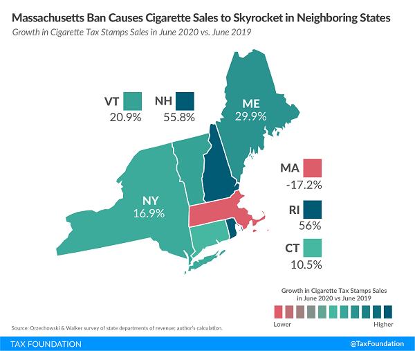 Tax Foundaton cigarette sale map northeast