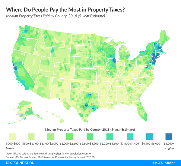 Tax Foundation 2018 property tax map