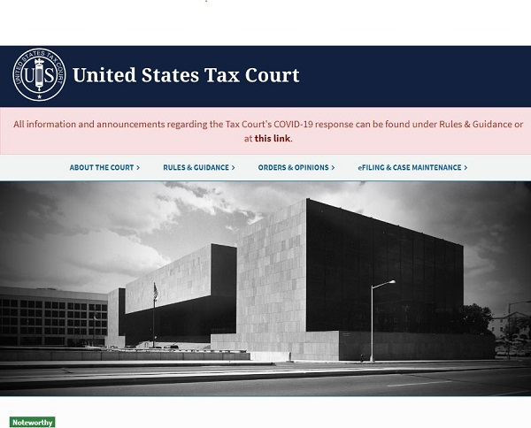 U.S. Tax Court web page at 20200721