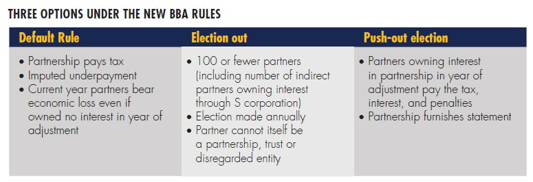 Three Options Under the New BBA Rules