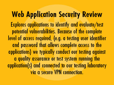 Web Application Security Review
